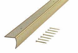"MD Building Products Satin Brass Stair Edging 72""Fluted"