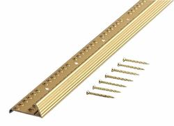 """MD Building Products Satin Brass Carpet Gripper with Teeth 72""""Fluted"""