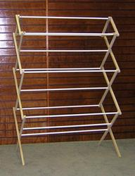 Heavy-Duty Wooden Dryer Rack