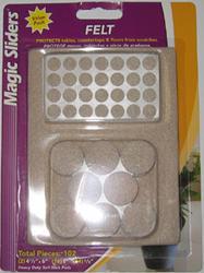 Magic Sliders® 102-Piece Heavy-Duty Felt Pad Pack in Oatmeal
