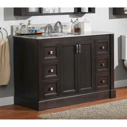 Brilliant  42quot SingleSink Bathroom Vanity Set Alpine White At Menards