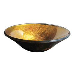 "Magick Woods 17-3/8"" Gold Foil Vessel Sink"