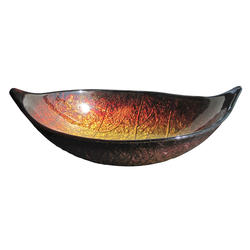 "Magick Woods 22-1/4"" Red and Gold Leaf Vessel Sink"