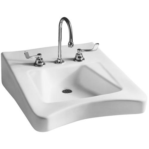 Mansfield Wheelchair ADA Wall Mount Bathroom Sink 4 Center At Menards
