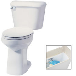 "Mansfield Alto10"" Elongated Front ADA Two-Piece Lined Toilet"