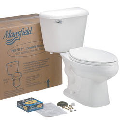 Mansfield Pro-Fit2 Elongated Front Complete Toilet