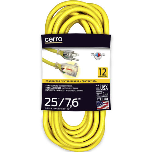 cerro 12 3 1 outlet outdoor lighted yellow extension cord at menards. Black Bedroom Furniture Sets. Home Design Ideas