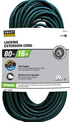 Stay Plugged 16-3 80'; 1 Outlet Outdoor Locking Extension Cord