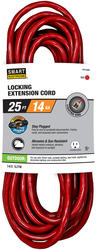 Stay Plugged 14-3 25'; 1 Outlet Outdoor Locking Extension Cord