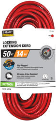 Stay Plugged 14-3 50'; 1 Outlet Outdoor Locking Extension Cord
