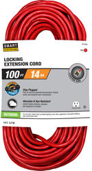 Stay Plugged 14-3 100'; 1 Outlet Outdoor Locking Extension Cord