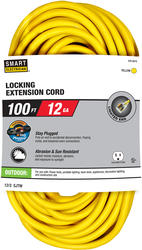 Stay Plugged 12-3 100'; 1 Outlet Outdoor Locking Extension Cord