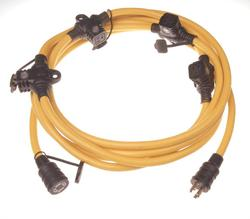 12/5, 25' Five Outlet/Dual Circuit Generator Cord