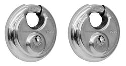"2-3/4"" Stainless Steel Discus Shield Padlock (2-Pack)"