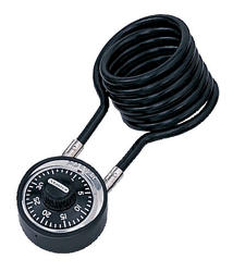 """1-7/8"""" Classic Black Dial with 4' Cable Lock"""