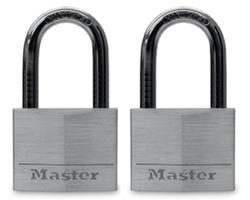 "1.5"" Aluminum Long Shackle Padlock (2-Pack)"