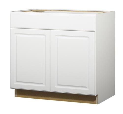 Value choice 36 ontario white standard 2 door 1 drawer base cabinet at menards - Menards white kitchen cabinets ...