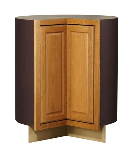 Value choice 36 huron oak easy reach corner base cabinet for 36 corner cabinet