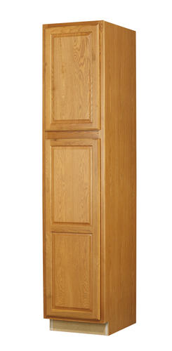 Value choice 18 huron oak standard 2 door tall utility cabinet at menards - Tall kitchen utility cabinets ...