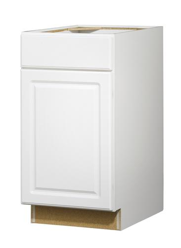 Value choice 18 ontario white standard 1 door drawer base for Standard white kitchen cabinets