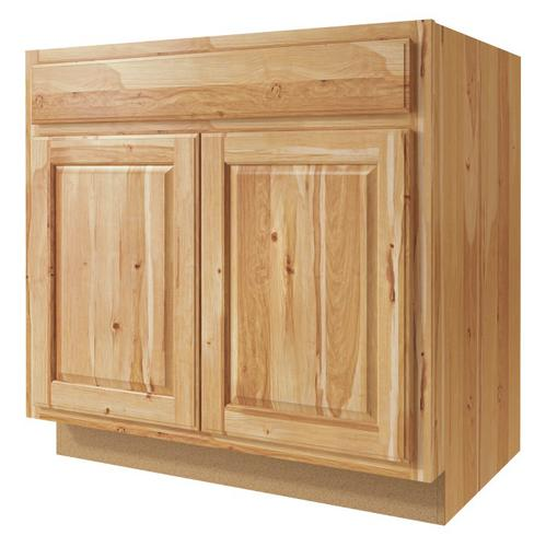 """Menards Kitchen Cabinet Price And Details: Value Choice 33"""" Thunder Bay Hickory Standard 2-Door Sink"""