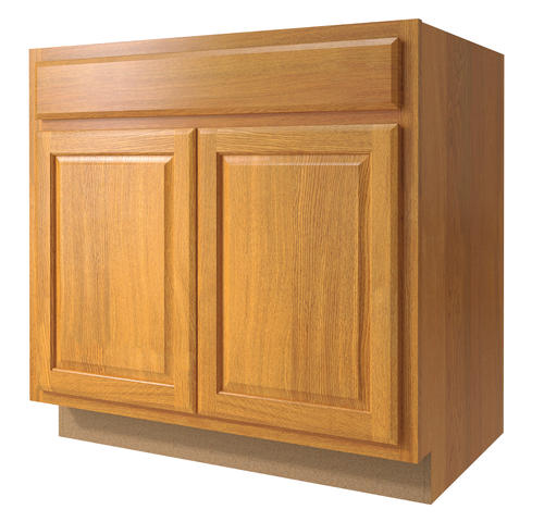 "Value Choice 33"" Huron Oak Standard 2-Door Sink Base"
