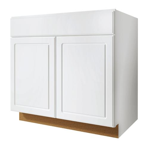 "Value Choice 33"" Ontario White Standard 2-Door Sink Base Cabinet At Menards®"