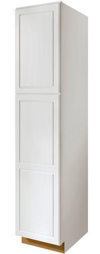 Value choice 24 ontario white standard 2 door tall utility cabinet at menards - Menards white kitchen cabinets ...