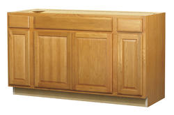 "Value Choice 60"" Huron Oak Standard 4-Door Sink / Cooktop Base Cabinet"