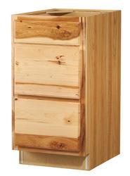 "Value Choice 18"" Thunder Bay Hickory 3-Drawer Base Cabinet"