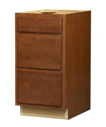 "Value Choice 18"" Erie Birch 3-Drawer Base Cabinet"