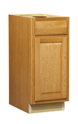 "Value Choice 15"" Huron Oak Standard 1-Door/Drawer Base Cabinet"