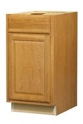 "Value Choice 18"" Huron Oak Standard 1-Door/Drawer Base Cabinet"