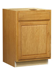"Value Choice 24"" Huron Oak Standard 1-Door/Drawer Base Cabinet"