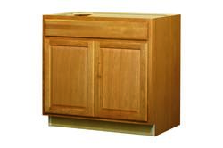 "Value Choice 36"" Huron Oak Standard 2-Door Sink / Cooktop Base Cabinet"