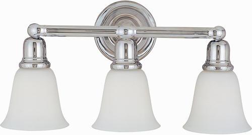 bel air 22 5 polished chrome 3 light bath vanity light at menards