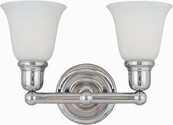 "Pyramid Creations Pyramid Creations Bel Air 15.5"" Polished Chrome 2-Light Bath Vanity Light"