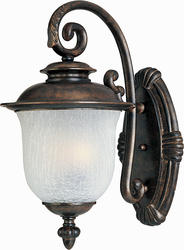 """Pyramid Creations Pyramid Creations Cambria 13"""" Chocolate DC 3-Light Outdoor Wall-Mount Light"""