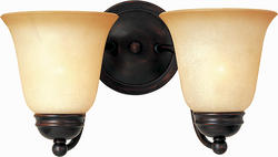 """Pyramid Creations Pyramid Creations Basix 13.5"""" Oil Rubbed Bronze 2-Light Wall Sconce"""