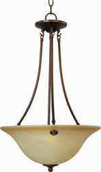 "Pyramid Creations Pyramid Creations Malibu 96.5"" Oil Rubbed Bronze 3-Light Invert Bowl Pendant"