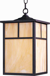 "Pyramid Creations Coldwater 15"" Burnished 1-Light Outdoor Hanging Lantern"