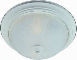 "Pyramid Creations 15.5"" Textured White 3-Light Flush-Mount Light"