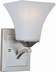 "Pyramid Creations Aurora 5.5"" Satin Nickel 1-Light Wall Sconce"