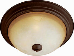 "Pyramid Creations Essentials 13.5"" Oil Rubbed Bronze 2-Light Flush-Mount Light"