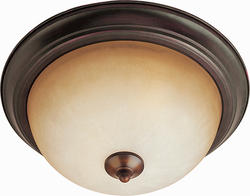 "Pyramid Creations Essentials 11.5"" Oil Rubbed Bronze  2-Light Flush-Mount Light"