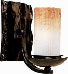 """Pyramid Crations Notre Dame 7.5"""" Oil Rubbed Bronze 1-Light Wall Sconce"""