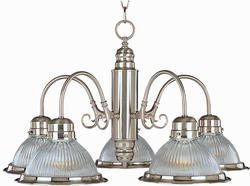 "Pyramid Creations Builder Basics 24"" Satin Nickel 5-Light Down Light Chandelier"