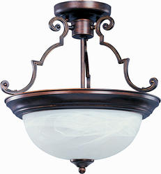 "Pyramid Creations Essentials 14.75"" Oil Rubbed Bronze 2-Light Semi-Flush-Mount"