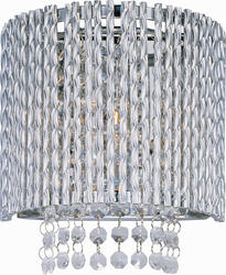 """Pyramid Creations Spiral 7.5"""" Polished Chrome 1-Light Wall Sconce"""