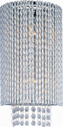 """Pyramid Creations Spiral 7.5"""" Polished Chrome 2-Light Wall Sconce"""